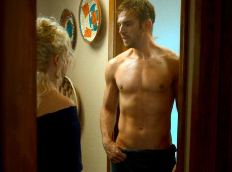 Dan Stevens topless in The Guest. Thriller film by Adam Wingard
