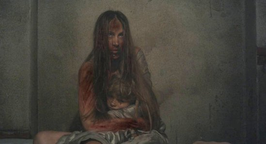 Mother and son in A Serbian Film
