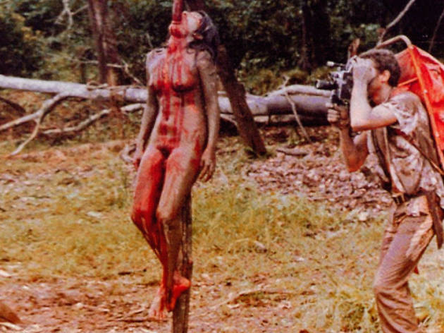 Cannibal holocaust extreme disturbing controversial horror film girl impaled
