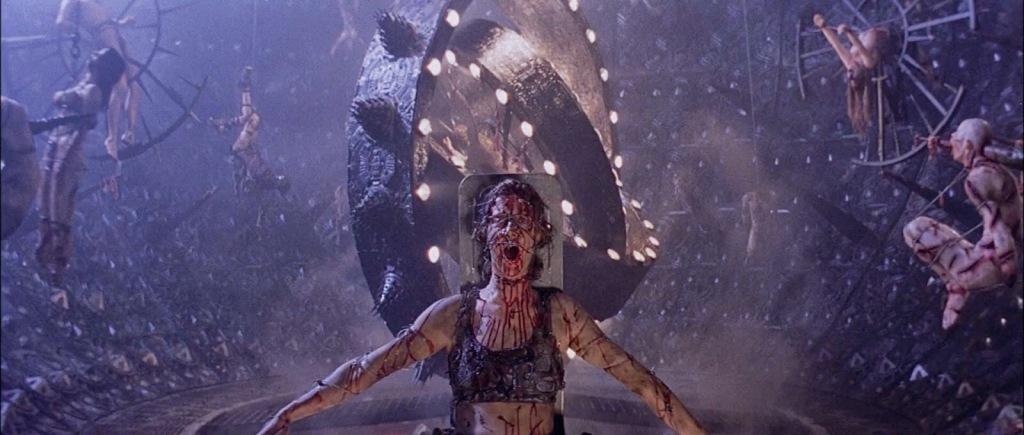 Horrific ending scene of Hell from Event Horizon 1997 horror sci-fi movie review