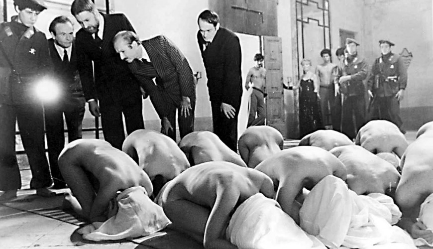 Pier Paolo Pasolini's 1975 Salo inspired by 120 Days of Sodom by Marquis De Sade.