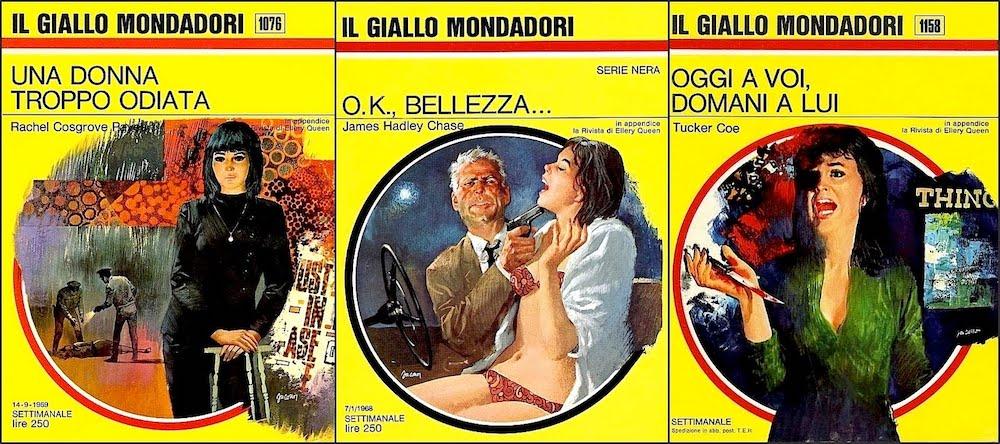 Mondadori gialli libri / Mondadori gialli books - Italian giallo